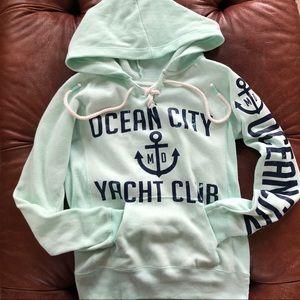 Ocean City Hoodie Size Small Seafoam green